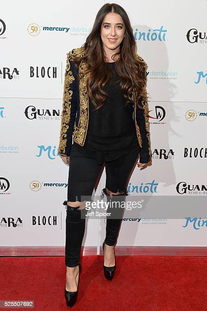 Ella Jade arrives at the launch of the 2016 annual BLOCH Dance World Cup on April 28 2016 in London England