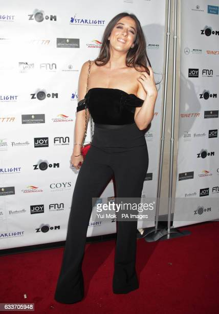 Ella Jade Bitton arriving at the ZOOM F1 charity gala event and auction in aid of Starlight Children's Foundation at the InterContinental London Park...
