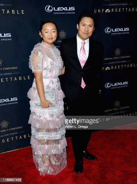 Ella Jay Basco and Dante Basco arrive for the 18th Annual Unforgettable Gala held at The Beverly Hilton Hotel on December 14 2019 in Beverly Hills...