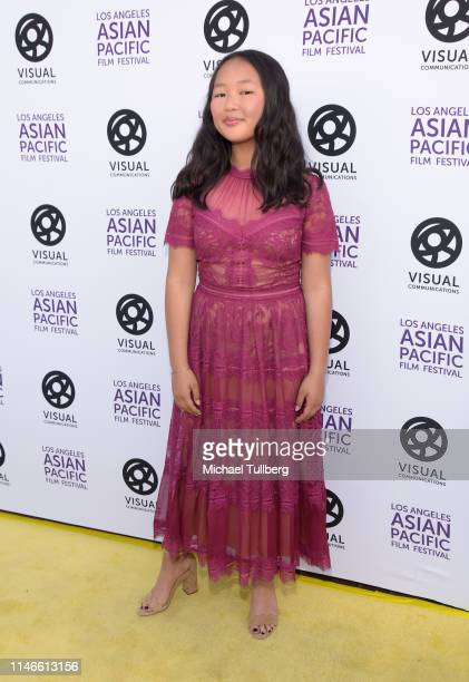 Ella Jay Basco attends the 35th Los Angeles Asian Pacific Film Festival opening night gala premiere of Yellow Rose on May 02 2019 in Los Angeles...