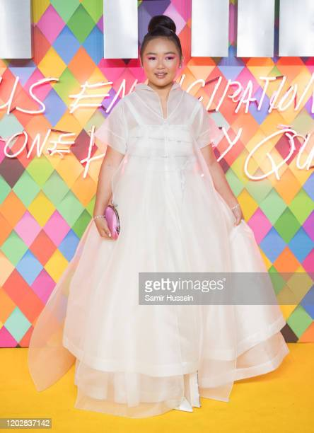 """Ella Jay Basco attends the """"Birds of Prey: And the Fantabulous Emancipation Of One Harley Quinn"""" World Premiere at the BFI IMAX on January 29, 2020..."""