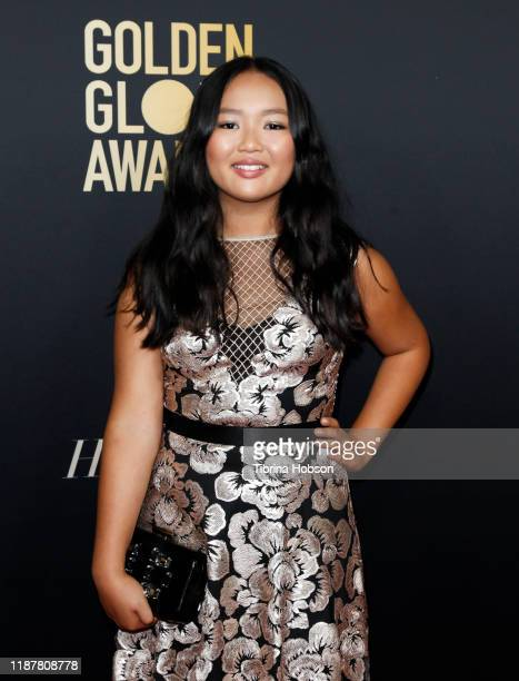 Ella Jay Basco attends the HFPA and THR Golden Globe Ambassador Party at Catch LA on November 14 2019 in West Hollywood California