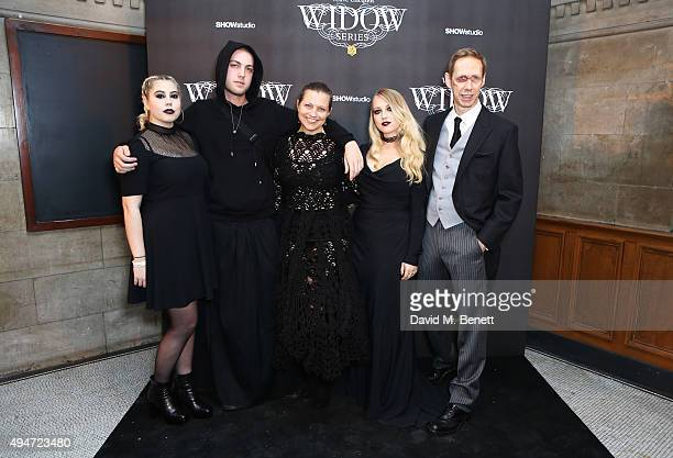Ella Knight Calum Knight Charlotte Knight Emily Knight and Nick Knight attend the Veuve Clicquot Widow Series A Beautiful Darkness curated by Nick...
