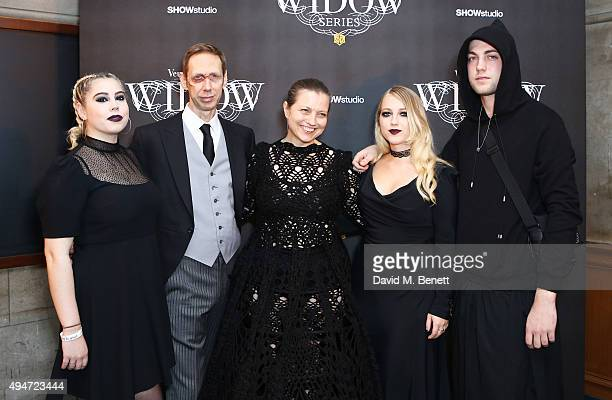 Ella Knight Nick Knight Charlotte Knight Emily Knight and Calum Knight attend the Veuve Clicquot Widow Series A Beautiful Darkness curated by Nick...