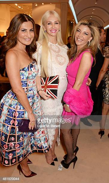 Ella Krasner Amanda Cronin and Lisa Tchenguiz arrive at The Masterpiece Marie Curie Party supported by JaegerLeCoultre and hosted by Heather Kerzner...