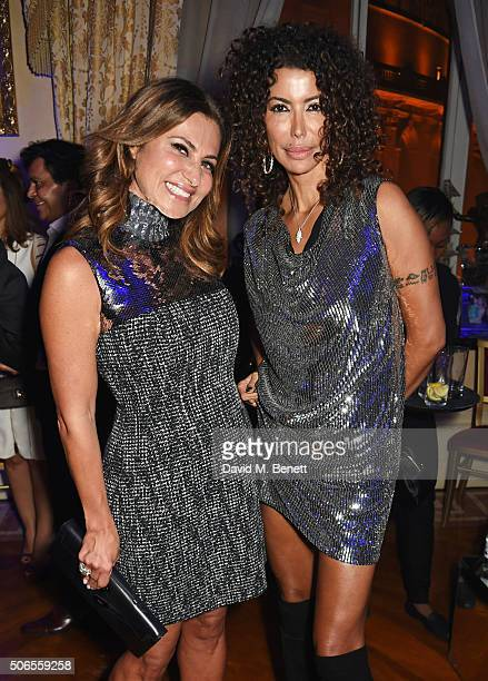 Ella Krasner and Isis Monteverde attend Lisa Tchenguiz's birthday party on January 23 2016 in London England