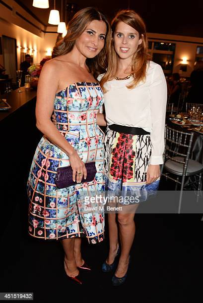Ella Krasner and Princess Beatrice of York attend The Masterpiece Marie Curie Party supported by JaegerLeCoultre and hosted by Heather Kerzner at The...