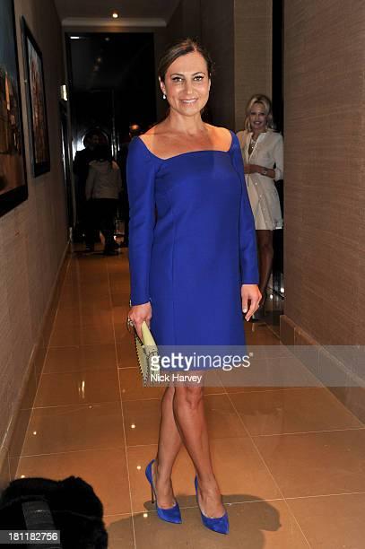 Ella Krasner attends the Nina Naustdal Runway show following London Fashion Fashion Week SS14 at The Mayfair Hotel on September 19 2013 in London...