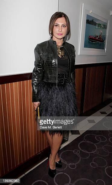 Ella Krasner attends the Vivienne Westwood aftershow dinner at Kitchen Joel Antunes at Embassy Mayfair during London Fashion Week Autumn/Winter 2012...