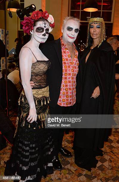 Ella Krasner Carlos Monteverde and Isis Monteverde attend the Unicef UK Halloween Ball raising vital funds to help protect Syria's children from...
