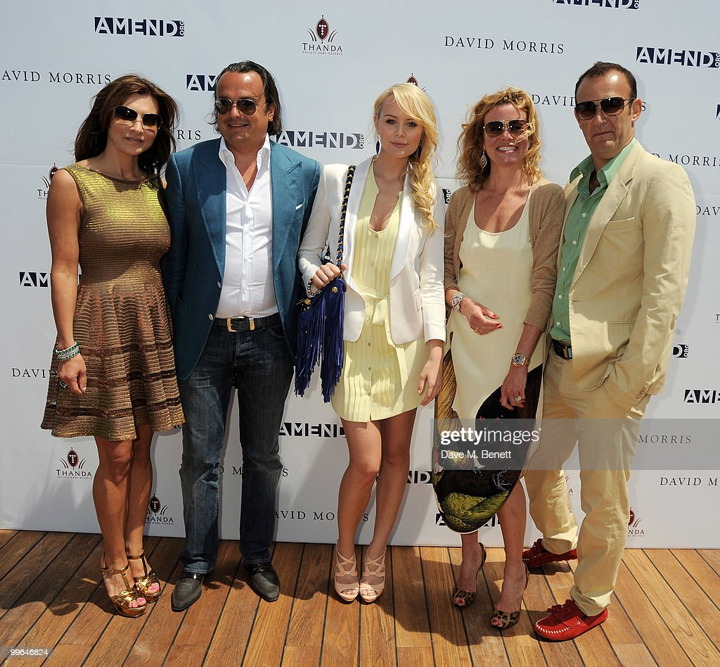 Ella Krasner, Gilles Mansard, Helena Mattsson, Erin Morris and Jeremy Morris attend the David Morris Amend Charity Luncheon at the Hotel du Cap as part of the 63rd Cannes Film Festival on May 17, 2010 in Antibes, France.