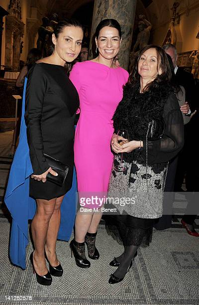Ella Krasner Yana Peel and Anita Zabludowicz attend the VA Design Fund Gala at The VA on March 13 2012 in London England