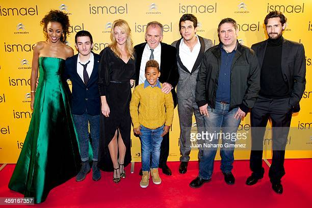 Ella Kweku Mikel Iglesias Belen Rueda director Marcelo Pineyro Larsson Do Amaral Mario Casas Sergi Lopez and Juan Diego Botto attend the 'Ismael'...
