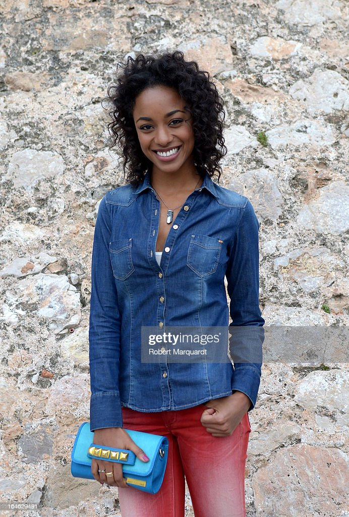 Ella Kweku poses during a portrait session on the set of her latest film 'Ismael' on March 25, 2013 in Barcelona, Spain.