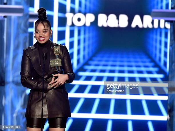 Ella Mai accepts the Top RB Artist award onstage during the 2019 Billboard Music Awards at MGM Grand Garden Arena on May 01 2019 in Las Vegas Nevada