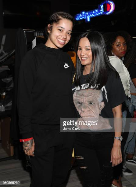 Ella Mai and Senior Director of Marketing at Remy Martin ThuyAnh J Nguyen attends CAA's BET Awards Week KickOff Party in Partnership with Heineken at...