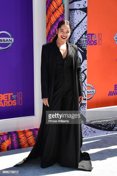 Ella Mai arrives to the 2018 BET Awards held at Microsoft Theater on June 24 2018 in Los Angeles California