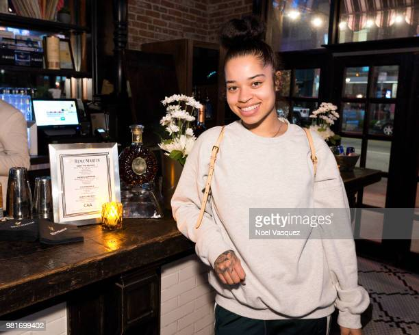 Ella Mai attends a party hosted by CAA Remy Martin at Luchini on June 21 2018 in Los Angeles California