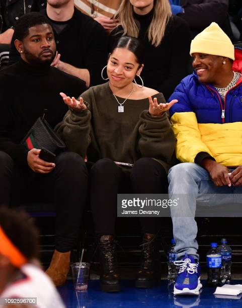 Ella Mai attends Boston Celtics v New York Knicks game at Madison Square Garden on February 1 2019 in New York City