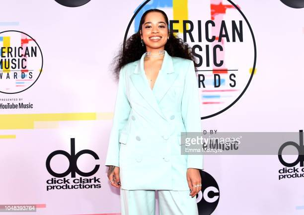 Ella Mai attends the 2018 American Music Awards at Microsoft Theater on October 9 2018 in Los Angeles California