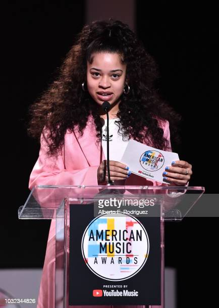 Ella Mai attends the 2018 American Music Awards Nominations Announcement at YouTube Space LA on September 12 2018 in Los Angeles California