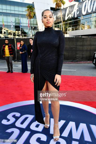 Ella Mai attends the 2019 American Music Awards at Microsoft Theater on November 24 2019 in Los Angeles California