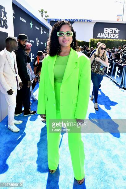 Ella Mai attends the 2019 BET Awards at Microsoft Theater on June 23 2019 in Los Angeles California
