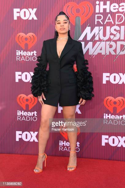 Ella Mai attends the 2019 iHeartRadio Music Awards which broadcasted live on FOX at Microsoft Theater on March 14 2019 in Los Angeles California
