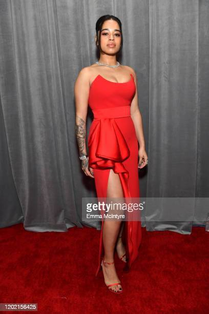 Ella Mai attends the 62nd Annual GRAMMY Awards at STAPLES Center on January 26 2020 in Los Angeles California