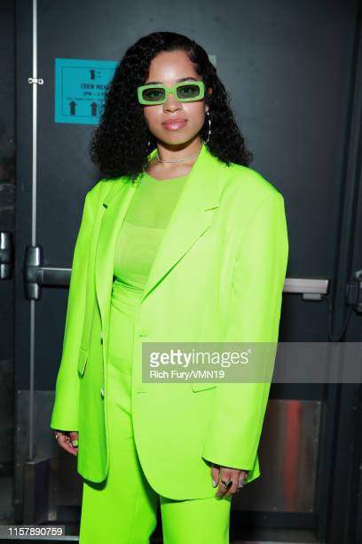 Ella Mai is seen backstage at the 2019 BET Awards at Microsoft Theater on June 23 2019 in Los Angeles California