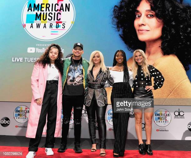 Ella Mai Kane Brown Bebe Rexha Normani and Chelsea Briggs attend The 2018 American Music Awards Nominations at YouTube Space LA on September 12 2018...