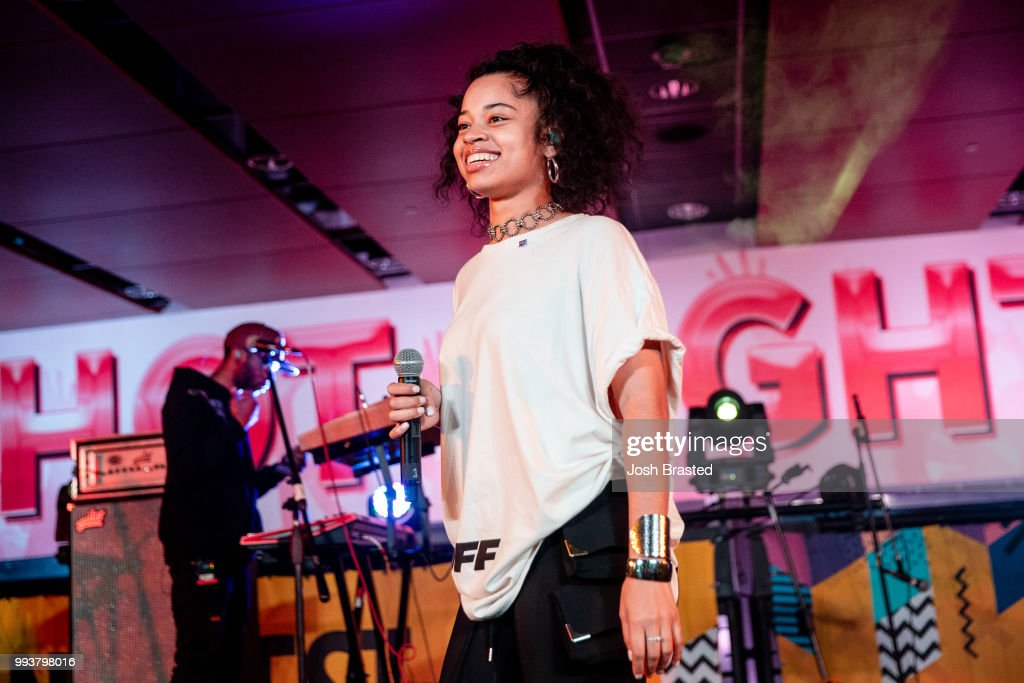 5eaafb985323a5 Ella Mai performs at the 2018 Essence Festival at the Mercedes-Benz ...