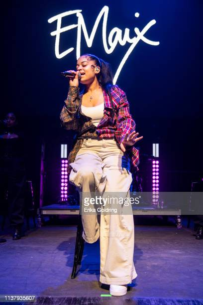 Ella Mai performs during BUKU Music Art Project at Mardi Gras World on March 23 2019 in New Orleans Louisiana