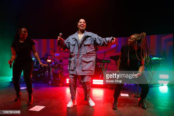 Ella Mai performs on stage at O2 Shepherd's Bush Empire on January 11 2019 in London England