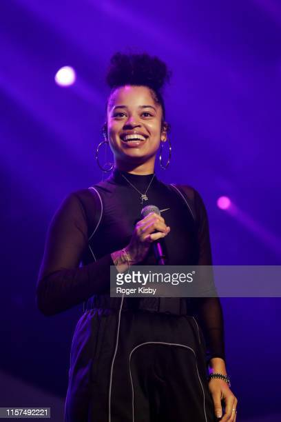 Ella Mai performs onstage at the 2019 BET Experience STAPLES Center Concert Sponsored By CocaCola at Staples Center on June 21 2019 in Los Angeles...