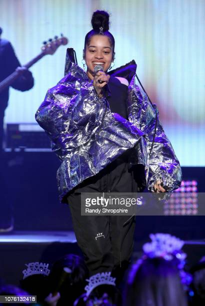 Ella Mai performs onstage during Dick Clark's New Year's Rockin' Eve With Ryan Seacrest 2019 on December 31 2018 in Los Angeles California