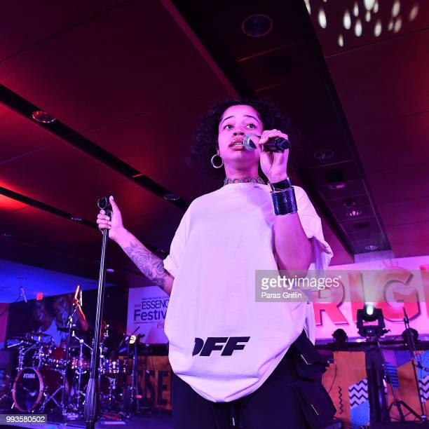 90c07700f3bd38 Ella Mai performs onstage during the 2018 Essence Festival -Day 2 at...  News Photo