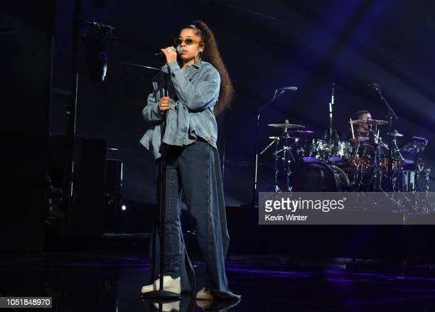 Ella Mai performs onstage during the Encore performance for Comcast Xfinity subscribers at the 2018 American Music Awards at Microsoft Theater on...