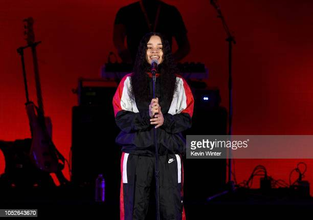 Ella Mai performs onstage during We Can Survive A Radiocom Event at The Hollywood Bowl on October 20 2018 in Los Angeles California