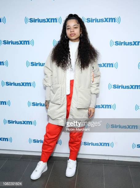 Ella Mai visits at SiriusXM Studios on October 15 2018 in New York City