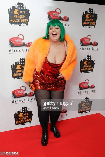 Ella May attends the KISS Haunted House Party 2019 at The SSE Arena Wembley on October 25 2019 in London England