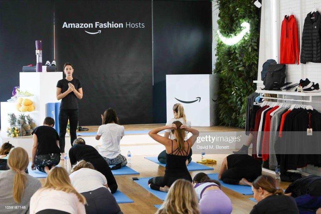 6868e0e74 Ella Mills attends the Amazon Fashion Pop Up Shop Live Yoga with ...