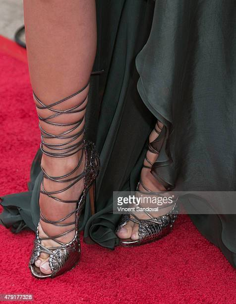 1c7cd0161 Ella Mois shoe detail attends the grand opening of Anil Arjandas Jewels Los  Angeles Boutique on