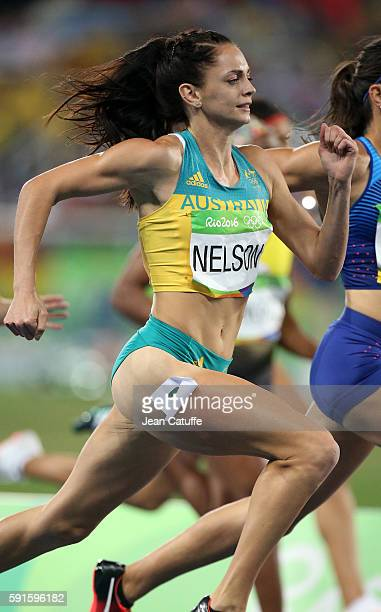 Ella Nelson of Australia competes in the Women's 200m on day 11 of the Rio 2016 Olympic Games at Olympic Stadium on August 16 2016 in Rio de Janeiro...