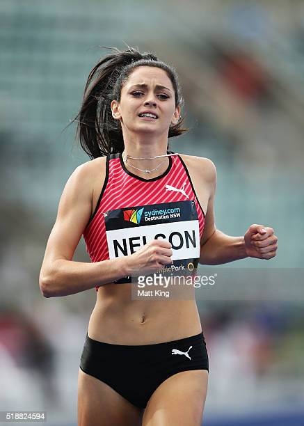 Ella Nelson of New South Wales competes in the Women's 200m final during the Australian Athletics Championships at Sydney Olympic Park on April 3...