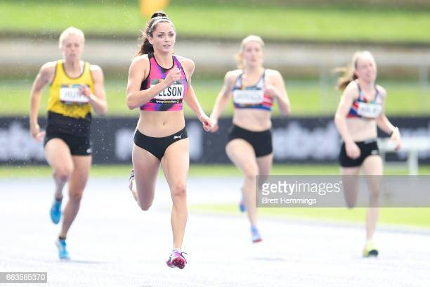 Ella Nelson of NSW competes in her Open Womens 200m race during day eight of the 2017 Australian Athletics Championships at Sydney Olympic Park on...