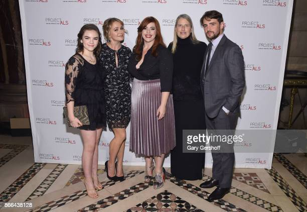 Ella Olivia Stiller actress Christine Taylor singer Alysha Umphress cofounder Project ALS Valerie Estess and event host actor Vincent Piazza attend...