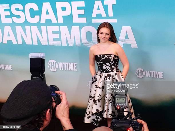 "Ella Olivia Stiller attends ""Escape At Dannemora"" New York Series premiere at Alice Tully Hall, Lincoln Center on November 14, 2018 in New York City."