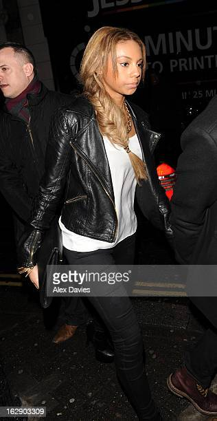 Ella Paige Roberts Celebrates Justin Bieber 's 19th birthday at BLC club sighting on February 28 2013 in London England