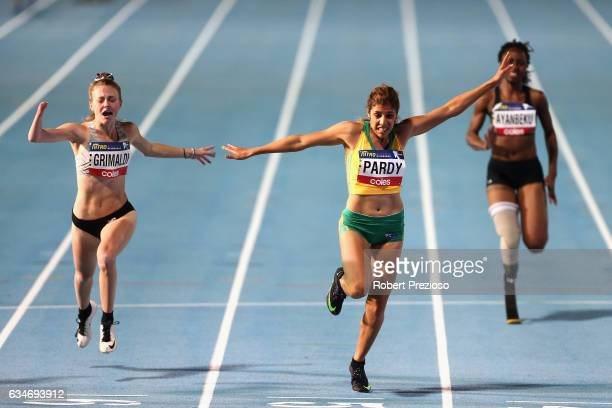 Ella Pardy of Australia competes in women 100 metre ambulatory during the Melbourne Nitro Athletics Series at Lakeside Stadium on February 11 2017 in...